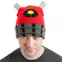 Doctor Who Red Dalek Image Knitted Licensed Beanie Hat, BIOWORLD NEW UNWORN - $11.64