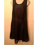 NWT MAURICES ~ Women's Plus 22 (Fits 2X) Black Lace Brown Lined Sleevele... - $39.58