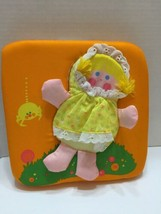 Vintage 1977 Little Miss Muffet Fisher Price Doll With Squeaker Spider B... - $11.29