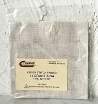 "Raymar 14 Count Natural Aida Cross Stitch Fabric - 100% Cotton 12"" x 12""  - $4.70"