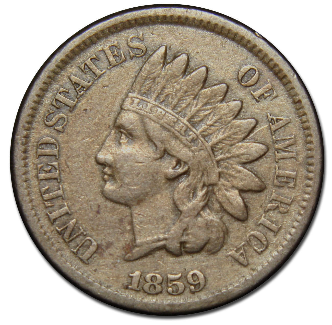1859 Indian Head Penny / Cent Coin Lot# MZ 2758