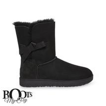 UGG CLASSIC KNOT SHORT BLACK SUEDE WINTER BOOTS SIZE US 6.5/UK 5/EU 37.5... - $139.99