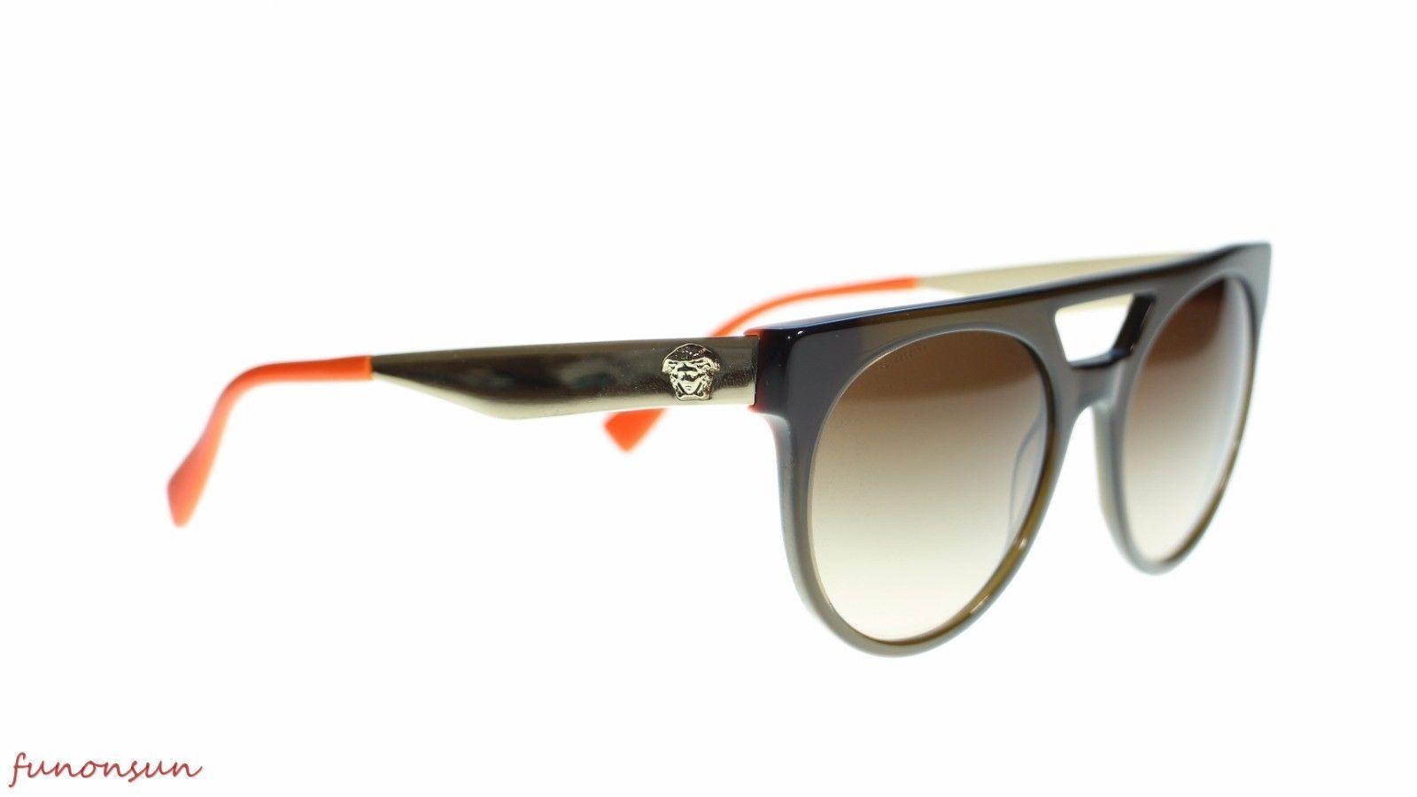 527d38312a2d Versace Men s Round Sunglasses VE4339 523513 Green Orange Brown  GradientLens 55m