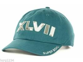 47 Brand Women's Dazzled Super Bowl XLVII Adjustable Logo Cap Hat Teal - $14.24