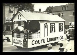 Parade Float Photograph Coutu Lumber B/W Flat Finish Thin Paper 7x5 Shar... - $14.99