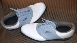 FOOTJOY Leather Women White Golf Shoes Size US 8 1/2 M 98203 Comfort Blu... - $29.69