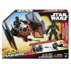 STAR WARS THE FORCE AWAKENS HERO MASHERS TIE FIGHTER & TIE FIGHTER PILOT... - $12.19