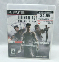 Square Enix Ultimate Action Triple Pack for Sony Playstation 3 PS3 Used - TESTED - $15.83