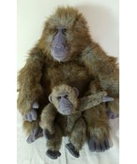"Dakin Gorilla Ape Monkey With Baby Plush Stuffed Toy Animal 17"" Soft - $27.00"