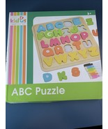 Kidus Wooden ABC Puzzle Capital Letters With Dry Erase Board, Picture Cards - $20.00