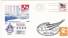 SPACE SHUTTLE COLUMBIA ARRIVES AT CAPE CANAVERAL FL 3/24/79 DUAL CANCEL ... - $2.98
