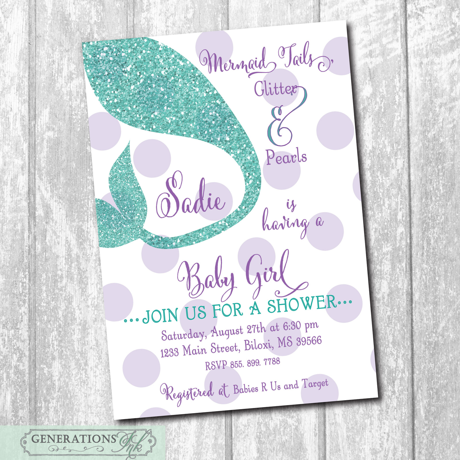 graphic regarding Printable Mermaid Baby Shower Invitations titled Mermaid Little one Shower Invitation Woman, Down below and 50 equivalent merchandise