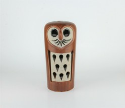Tall Pottery Abstract Brown Owl Candle Holder Display Décor Accent Piece... - $44.55