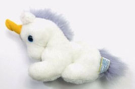 "Vintage 1982 Dakin White & Purple Unicorn 8"" Plush Stuffed Animal Toy - $44.54"