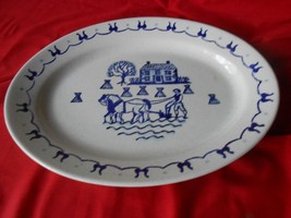 """Magnificent POPPY TRAIL """"Provincial Blue""""HOMESTEAD ....Large PLATTER 13.... - $15.65"""