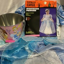 Princess Girls Costume Storybook Cinderella Blue Small Fairy Party Dress Up - $29.69