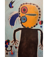 Rare Joan Miro ' The Red Disc Chases the Lark' Lithographic Abstract Art... - $199.99