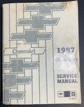 1987 Chevrolet Celebrity Factory Service Manual. - $19.35