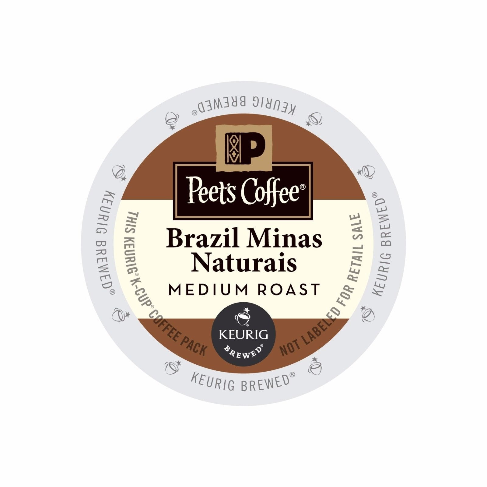 Peet's Coffee Brazil Minas Naturais Coffee, 88 count Kcups, FREE SHIPPING
