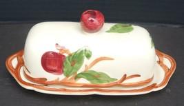 Vintage Franciscan Covered Butter Dish - Apple Pattern - $14.25