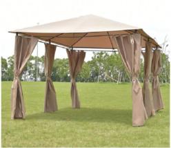 Garden Gazebo Patio Canopy Shade Waterproof Tent Steel 10x13 Party Weddi... - $173.24