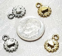 CHEESE ON A CRACKER FINE PEWTER PENDANT CHARM image 2