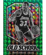Magic Johnson Mosaic 19-20 #16 Old School Green Mosaic Prizm Los Angeles... - $4.50