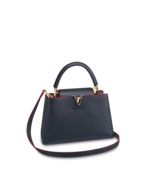 Louis Vuitton Capucines BB Navy Marine Rouge Crossbody Bag Limited Edition - $5,795.00
