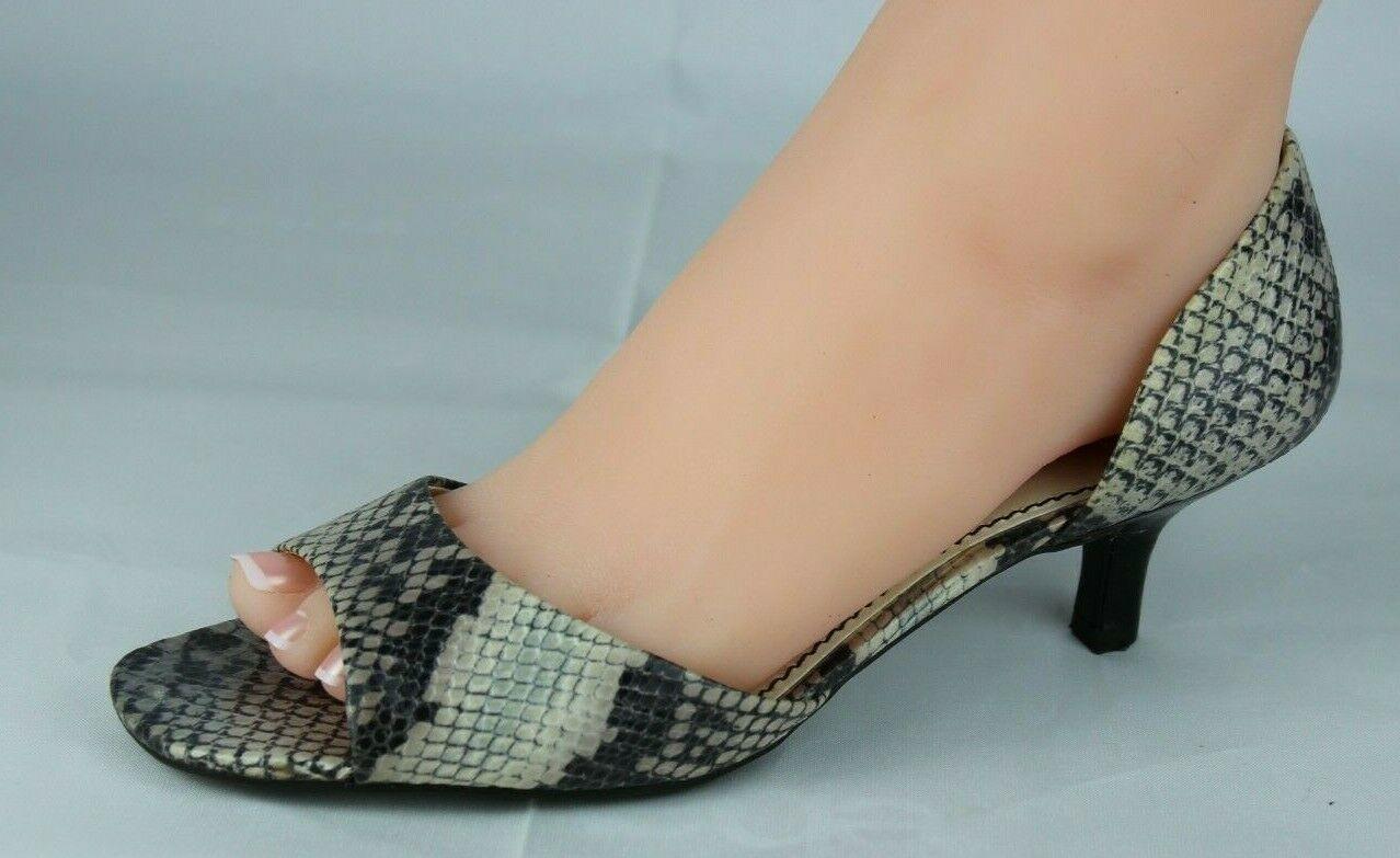 Franco Sarto L Dash Femmes M Talons Ouvert Orteil Animal Imprimé Chaussures 8.5M image 5