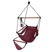 Hammaka Hanging Hammock Air Chair, Wooden Dowels, Burgundy - $62.47