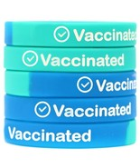 5 of VACCINATED Wristbands - Wear With Pride - High Quality Vaccine Sili... - £6.40 GBP