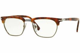 Persol RX Eyeglasses Frames PO3196V 1072 53-19 Brown Tortoise Tailoring Edition - $98.99