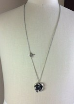 Fossil Silver Tone Long Chain w/ Flavor Pendant & Bee Accent - $14.84