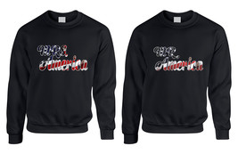 Couple Sweatshirt Mr Mrs America USA Print 4th Of July Top - $43.98+