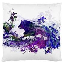 Pillow case Throw Pillow Cushion Case Design 44 Purple blue green dog by L.Dumas - $24.99+