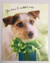 Hallmark Warm Wishes Happy Birthday Card-Dog/Present - $0.60