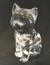 "Princess House Sitting Cat  24% Lead Crystal 3-1/4""  - $12.99"