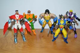 Vintage MARVEL TOYBIZ Action Figure Lot Wolverine Hawkeye Dr. Octopus Retro Toys - $15.86
