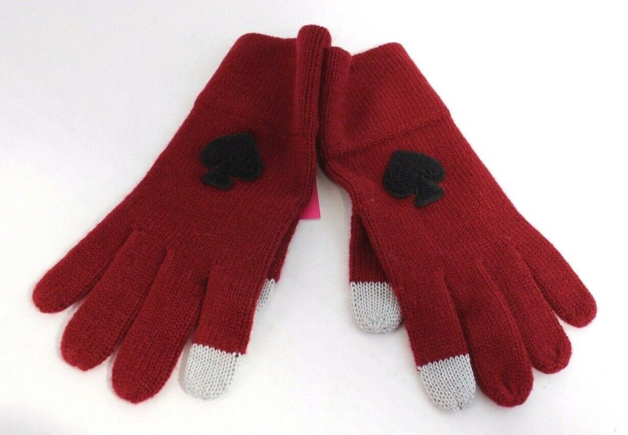 Primary image for Kate Spade New York women's gloves burgundy one size