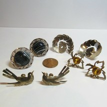 VTG Lot 4 Pair Sterling Silver Non Pierced Screw Back Earrings Bird   29... - $64.33