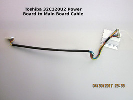 "Toshiba 32"" 32C120U2 PK101V1780I Power Board Cable to Main Board 431C4Q5... - $14.00"