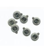 yin yang charms ying yang charms sun charms metal charms yin yang pendan... - $2.50