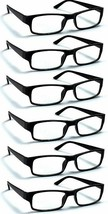 6 Pack Reading Glasses by Boost Eyewear, Traditional Black Frames, (+2.25)