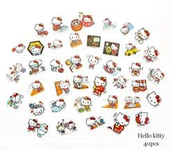 40pcs Adhensive Stickers Die Cut  - Hello Kitty DC043 - $2.31