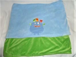Taggies Blue & Green Plush Alien Monster Blanket 30X40 - $27.15