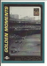 (SC-13) 2001 Topps Baseball Card #379: Bobby Thomson - Golden Moments - $1.25