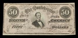 1864 $50 Confederate Note T-66 Fine Condition - $98.99
