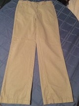 Boys Size 16 Husky Cherokee pants ultimate khaki flat front uniform pants - $4.79