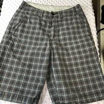 American Eagle Mens Sz 28 Plaid Walking Shorts Bermuda 100% Cotton - $8.05
