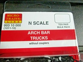Micro-Trains Stock # 00310000 (1011-10)  Arch Bar Trucks Without Coupler 10 pair image 2